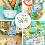 Modern Outer Space Birthday Party
