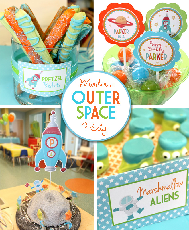 Modern Outer Space Party Ideas | Celebration Lane