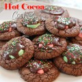 Hot Cocoa Cookies - great for a Winter Cookie Exchange Party! | CelebrationLane.com