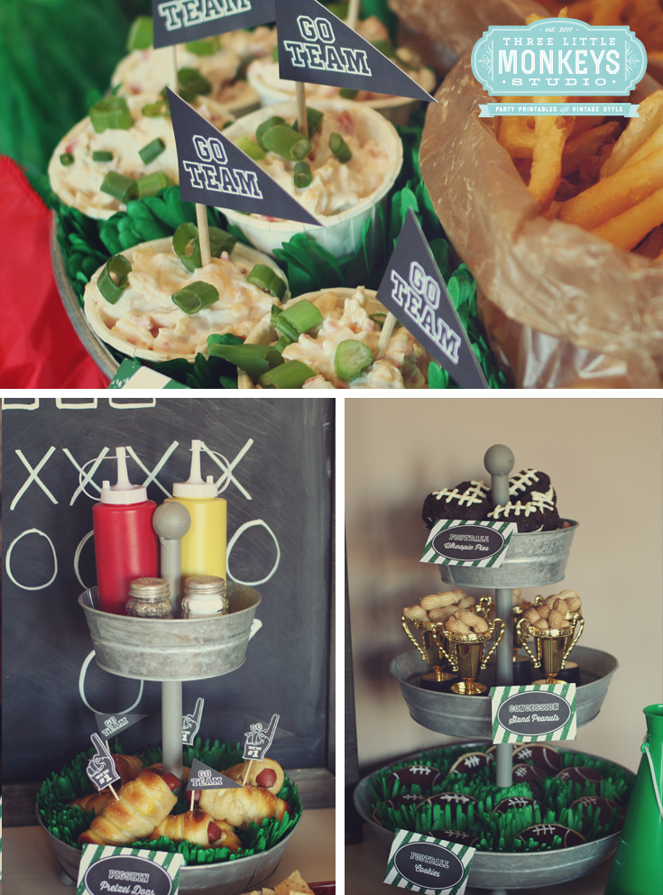 Football Party Ideas and free chalkboard printable set!