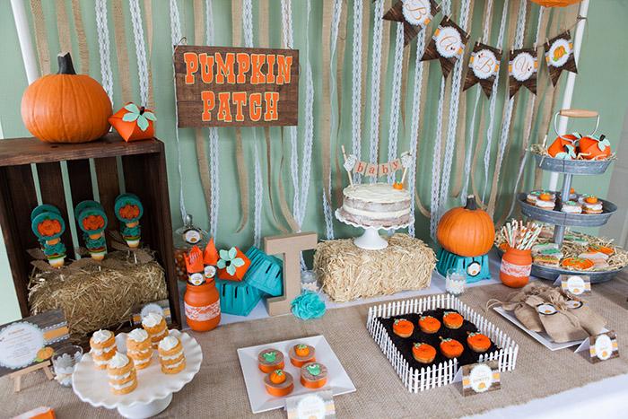 Rustic Fall Little Pumpkin Baby Shower Ideas