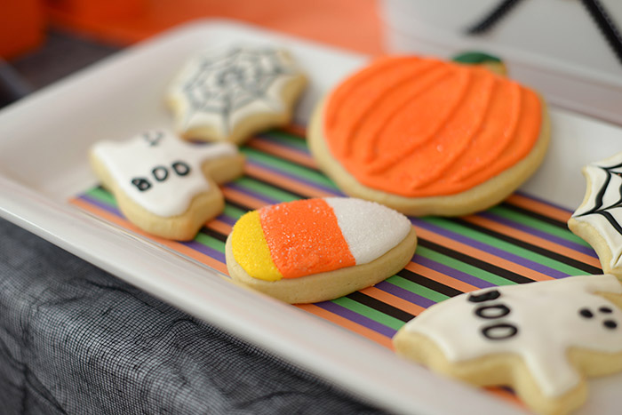 Party Ideas Not So Spooky Halloween - Festive Cookies
