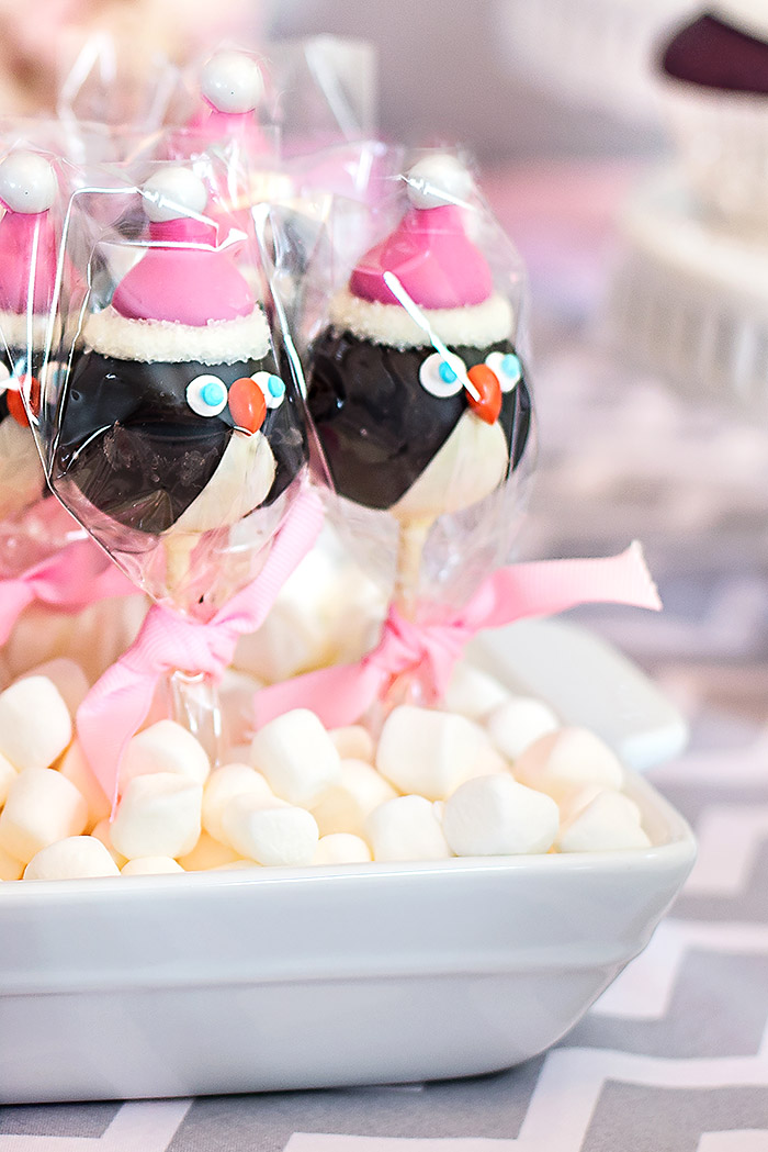 Winter Wonderland Penguin Cake Pops
