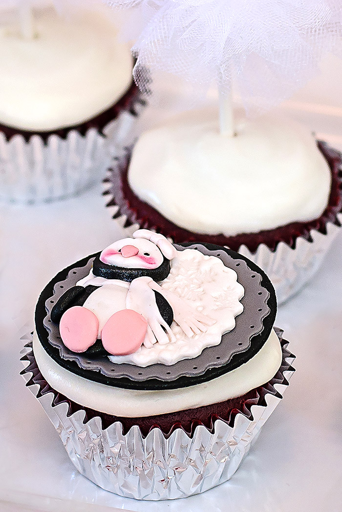 Winter Wonderland Penguin Fondant Cupcake Toppers