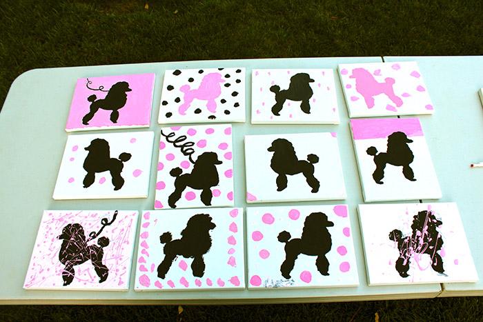 """Pink Poodle Skirt """"Paint a Poodle"""" Activity"""