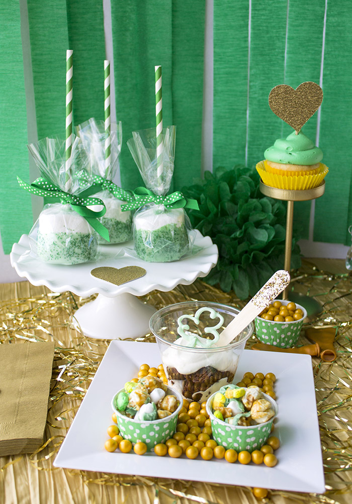 """St. Patrick's Day """"Lucky In Love"""" Party Sweets"""