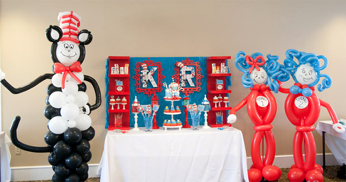Dr. Suess Thing 1 and Thing 2 Baby Shower
