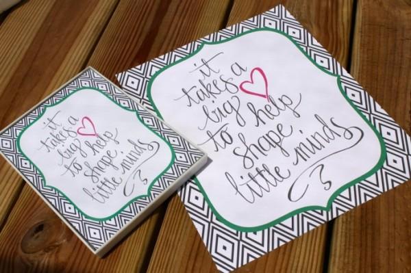 Teacher Appreciation Day Gift Ideas - Big Heart Wall Art