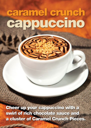 caramel crunch cappuccino