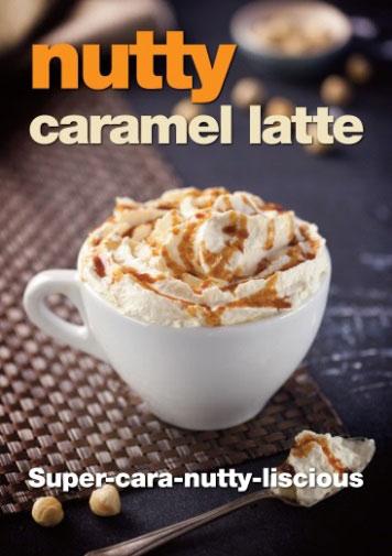 nutty caramel latte