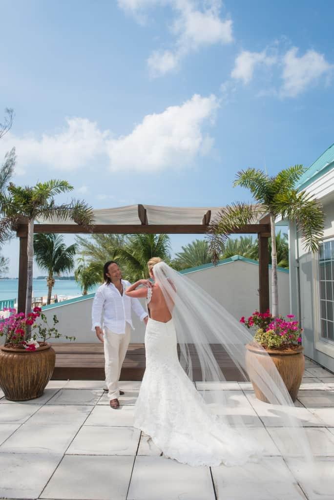 All White Beach Wedding