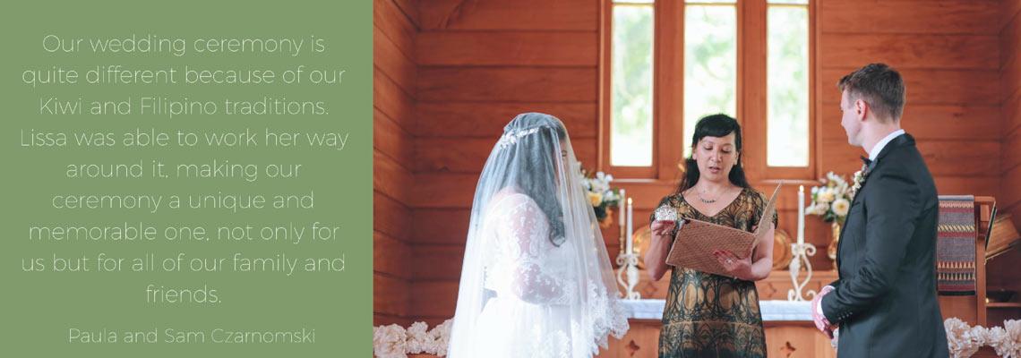 Marriage celebrant wellington Lissa Chong
