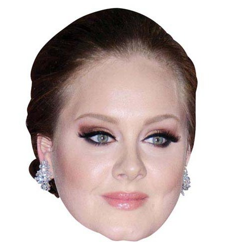 A Cardboard Celebrity Big Head of Adele