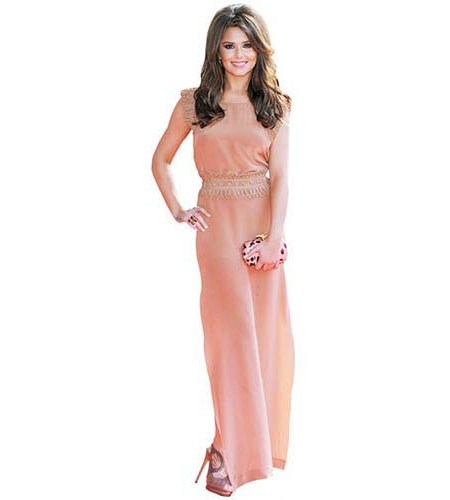 Cheryl Fernandez-Versini Pink Dress Cardboard Cutout