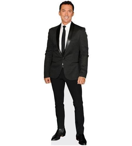 A Lifesize Cardboard Cutout of Bruno Tonioli wearing a black suit