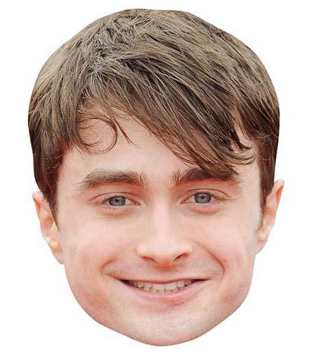 A Cardboard Celebrity Mask of Daniel Radcliffe