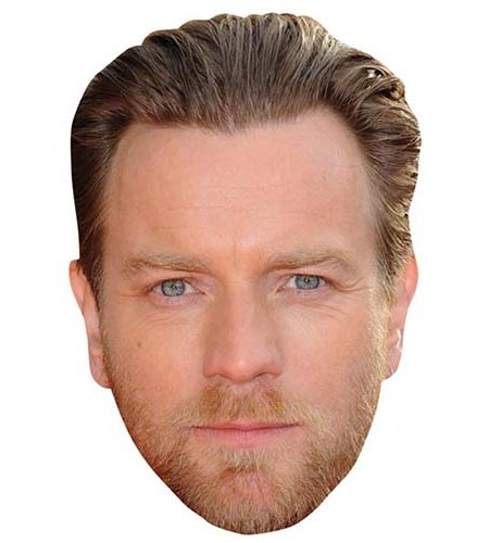 A Cardboard Celebrity Big Head of Ewan McGregor