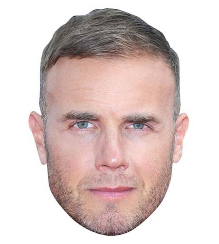 A Cardboard Celebrity Big Head of Gary Barlow