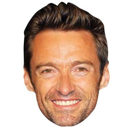 A Cardboard Celebrity Big Head of Hugh Jackman