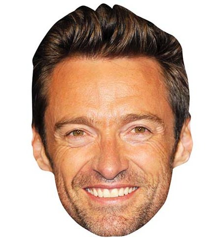 A Cardboard Celebrity Mask of Hugh Jackman