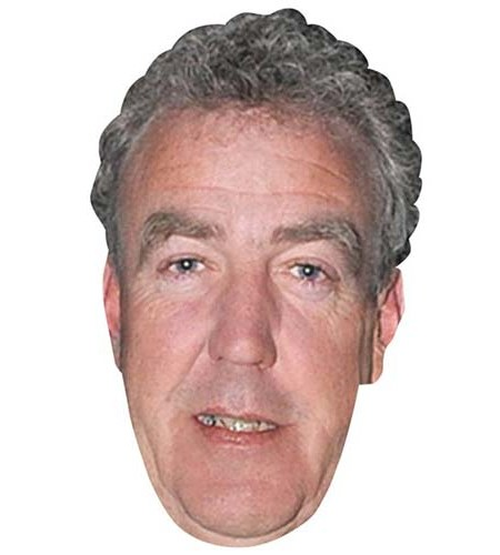 A Cardboard Celebrity Mask of Jeremy Clarkson