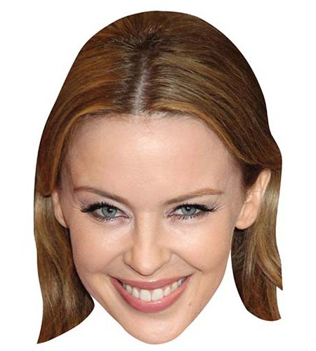 A Cardboard Celebrity Mask of Kylie Minogue