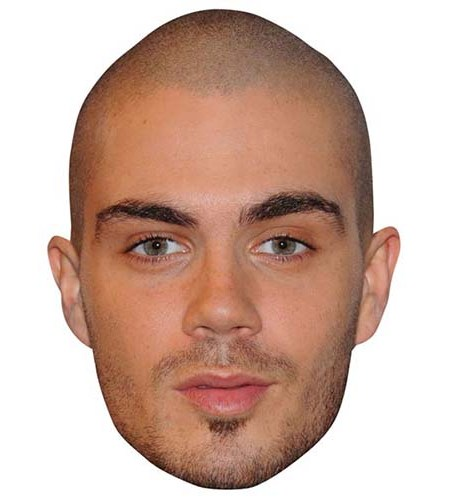 A Cardboard Celebrity Big Head of Max George
