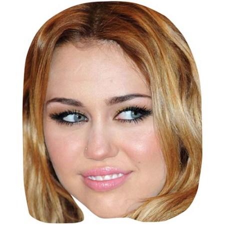 A Cardboard Celebrity Big Head of Miley Cyrus
