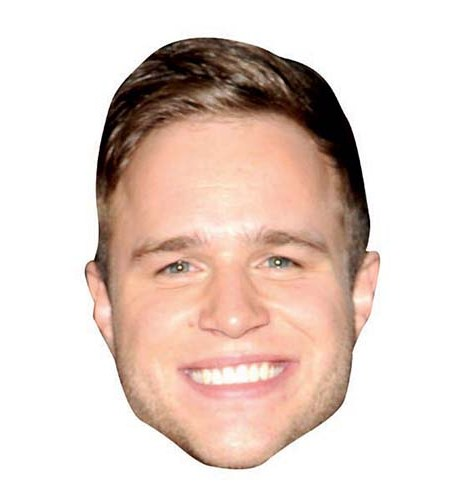 A Cardboard Celebrity Big Head of Olly Murs