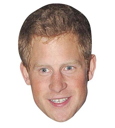 A Cardboard Celebrity Big Head of Prince Harry