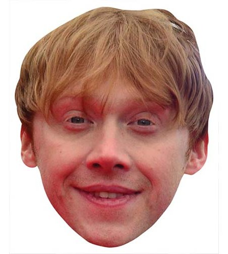 A Cardboard Celebrity Big Head of Rupert Grint
