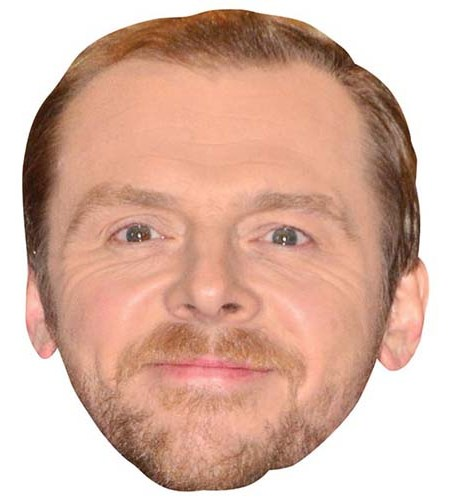 A Cardboard Celebrity Mask of Simon Pegg