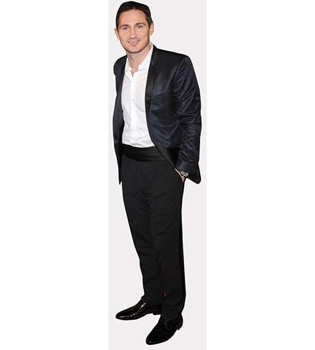 A Lifesize Cardboard Cutout of Frank Lampard wearing a dark suit