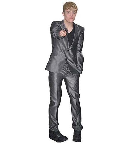 A Lifesize Cardboard Cutout of John Grimes wearing a shiny suit