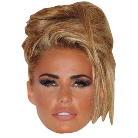 A Cardboard Celebrity Big Head of Katie Price