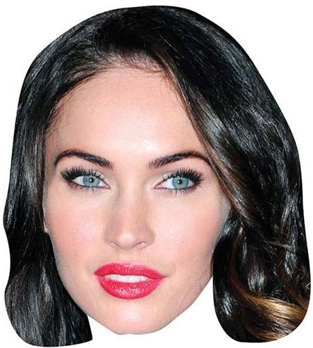 A Cardboard Celebrity Big Head of Megan Fox