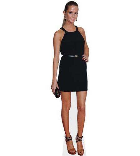 A Lifesize Cardboard Cutout of Millie Mackintosh wearing a little black dress