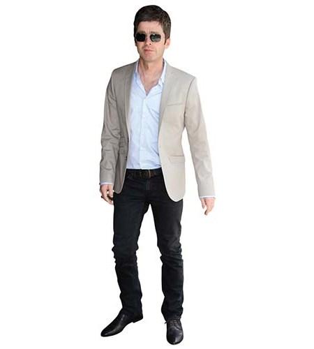 A Lifesize Cardboard Cutout of Noel Gallagher wearing sunglasses