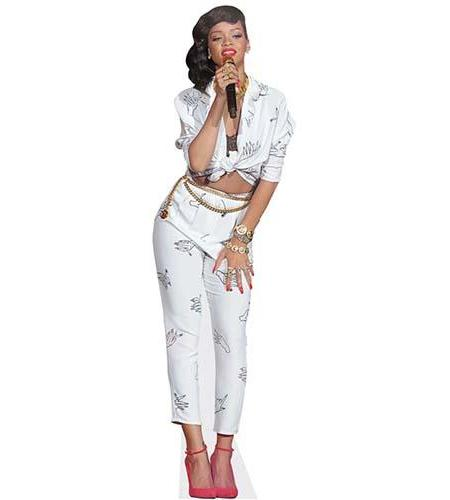 A Lifesize Cardboard Cutout of Rihanna performing