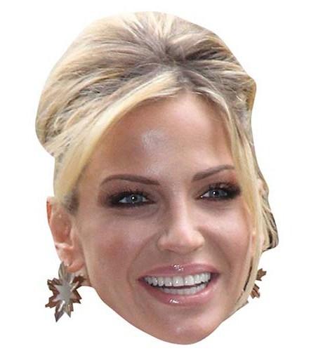 A Cardboard Celebrity Big Head of Sarah Harding