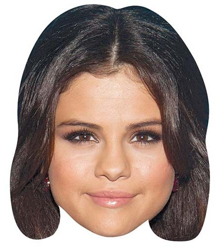 A Cardboard Celebrity Big Head of Selena Gomez