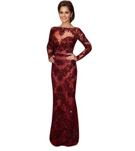 A Celebrity Cardboard Cutout of Cheryl Cole in Red Dress