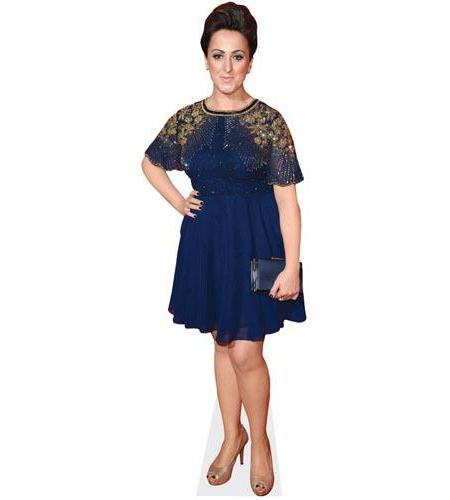 A Lifesize Cardboard Cutout of Natalie Cassidy wearing a blue dress