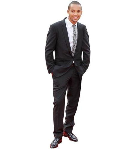 A Lifesize Cardboard Cutout of Theo Walcott wearing a smart suit