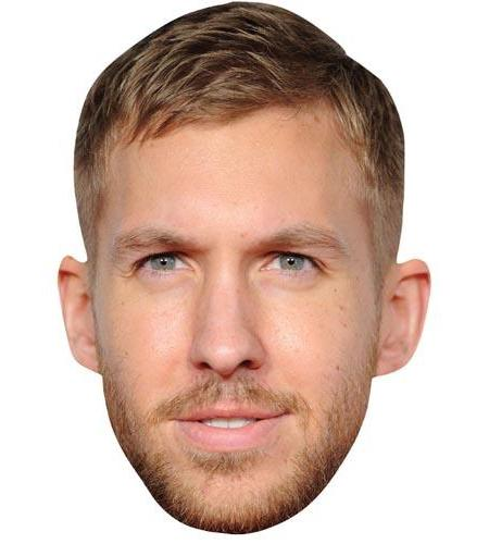 A Cardboard Celebrity Big Head of Calvin Harris