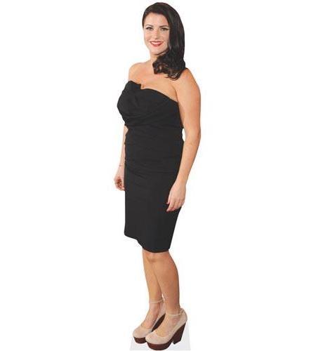A Lifesize Cardboard Cutout of Laura Norton wearing black
