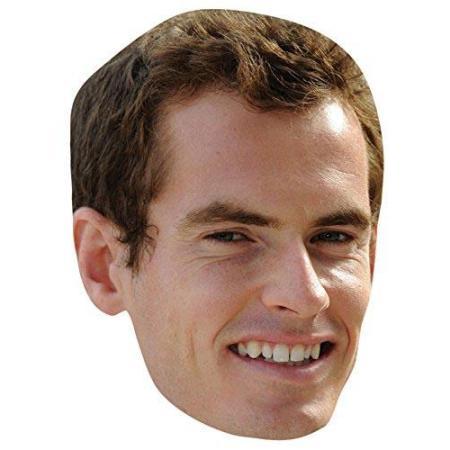 A Cardboard Celebrity Big Head of Andy Murray