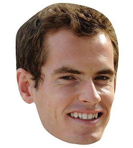 A Cardboard Celebrity Big Head of Andy Murray
