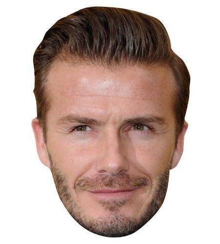 A Cardboard Celebrity Big Head of David Beckham