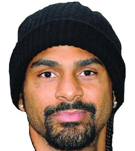 A Cardboard Celebrity Big Head of David Haye